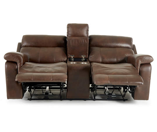 Broyhill Wellsley Leather Power Reclining Console Loveseat Big Lots