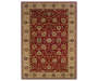 Welsh Red Area Rug 3 Feet 2 Inches by 5 Feet 5 Inches Overhead View Silo Image