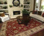 Welsh Red Area Rug 3 Feet 2 Inches by 5 Feet 5 Inches in Living Room Lifestyle Image