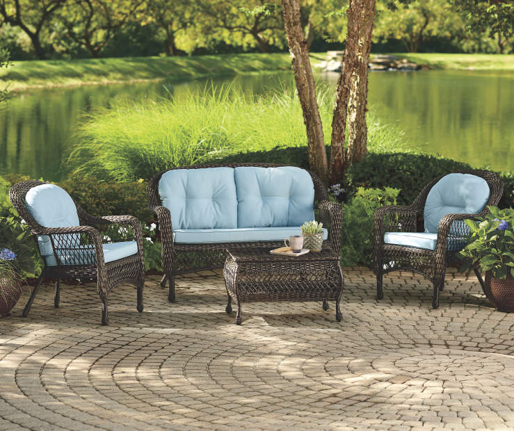 Westwood Aqua 7 Piece Replacement Cushion Set environment image