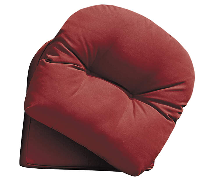 Westwood Red 2 Piece Replacement Rocker Cushion Set silo front