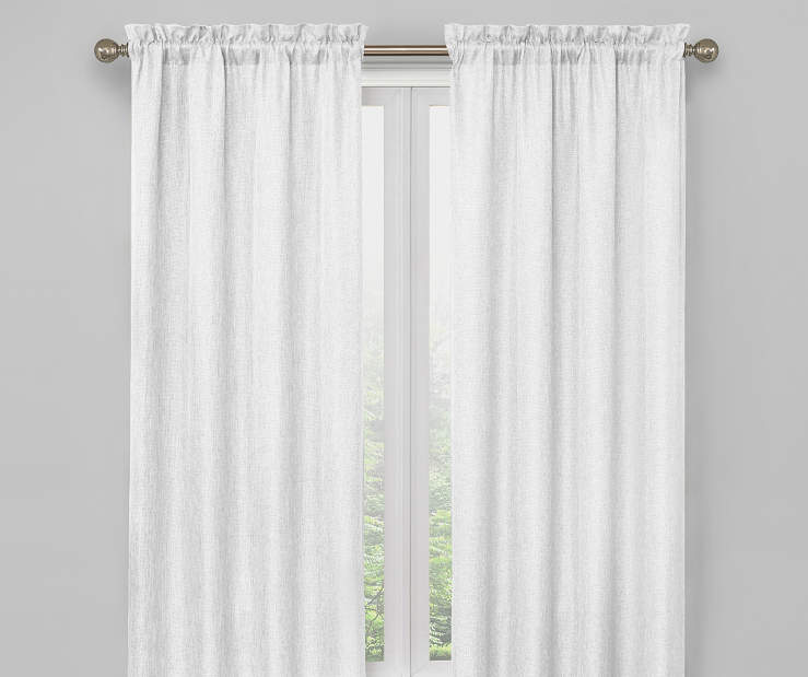White Bergen Blackout Curtain Panel Pair 63 Inches On Window Room Environment Lifestyle Image