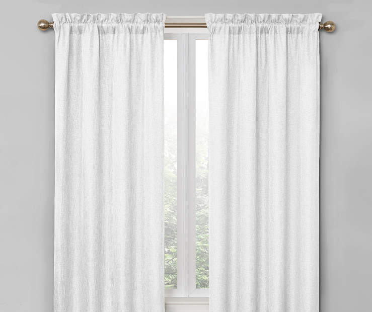 White Bergen Blackout Curtain Panel Pair 84 Inches on Window Room Environment Lifestyle Image