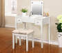 White Butterfly Mirror Vanity Set with Stool lifestyle