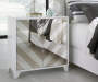 White Contrast Chevron Mirror 2 Door Accent Chest lifestyle bedroom