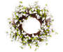 White Dogwood Floral Twig Wreath 24 inches Silo Front View