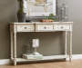 White Farmhouse 3 Drawer Console Table lifestyle entry way
