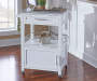 White Granite Top Kitchen Cart with Storage lifestyle