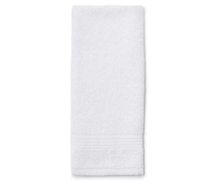 White Just Home Hand Towel Folded Silo Image