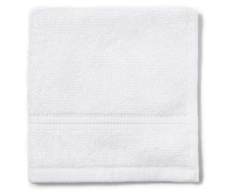 White Just Home Wash Cloth Folded Silo Image