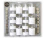 White LED Tealight and Votive Candles 16-Pack In Package Silo