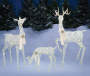 White Light Up LED Deer Family 3 Piece Set environment