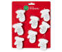 White Mittens Mini Ornaments 8 Pack silo front