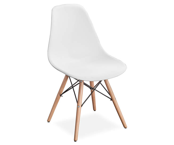 White Pyramid Truss Task Chair silo angled