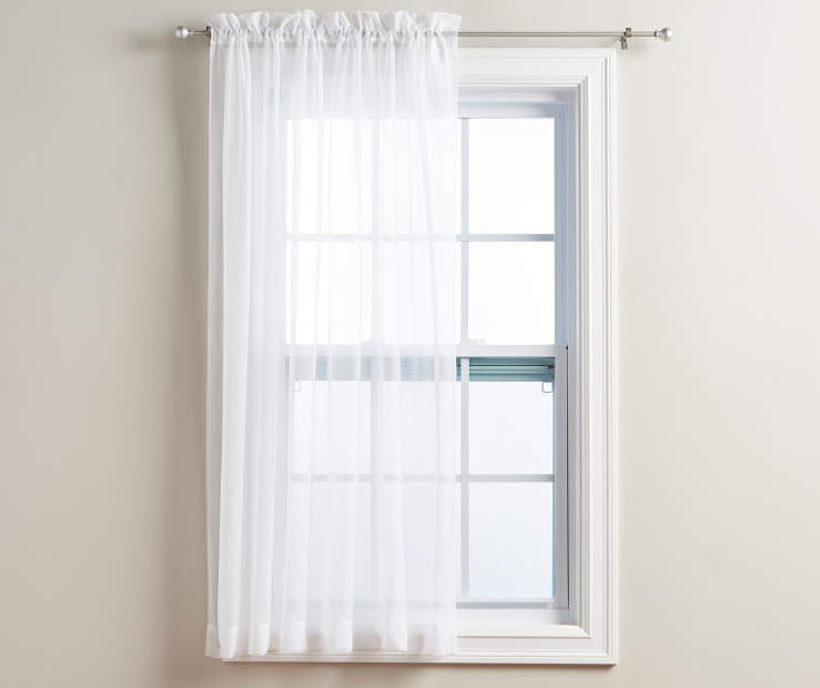 White Voile Panel on Window Room View