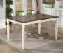 Whitesburg Cottage White and Brown lifestyle Dining Table
