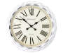 Whitewash Wall Clock 24 inches Silo Front View