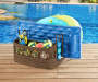 Wicker Pool Storage Rack & Bin