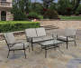 Willowbrook Tan 4 Piece Cushion Seating Set lifestyle