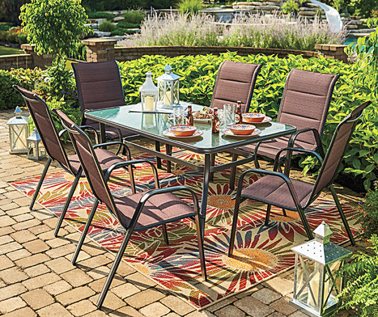 Wilson & Fisher Aspen & Glass Top Table Patio Dining Set