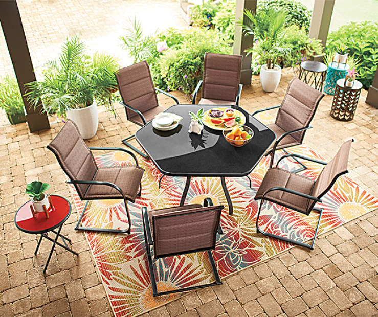 Whether It S A Barbecue Party Or An Outdoor Dinner The Wilson Fisher Aspen Patio Dining Set Brings Family And Friends Together In Comfort