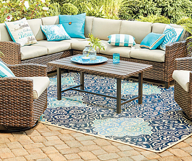 Wilson Fisher Augusta 6 Piece Modular Cushioned Patio Furniture