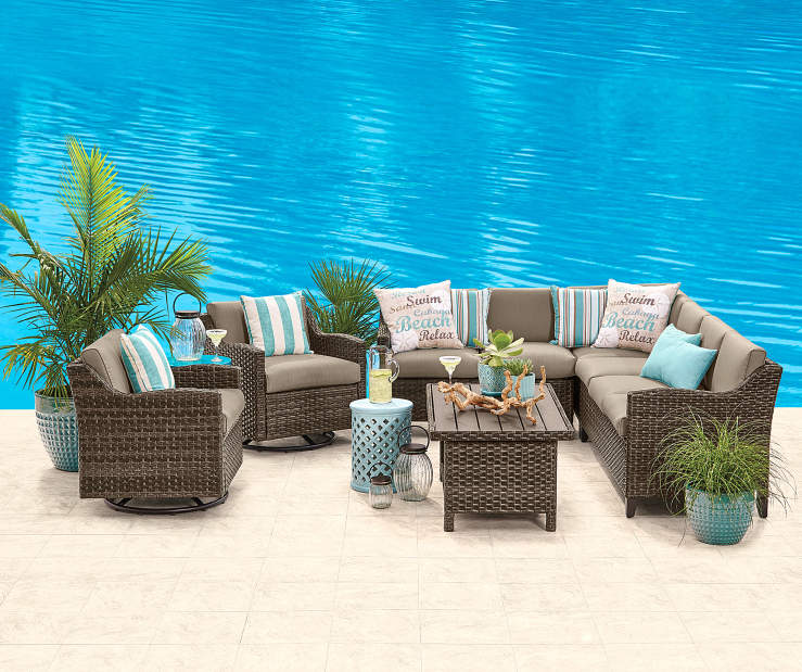 Wilson Amp Fisher Augusta 6 Piece Modular Seating Set Big Lots