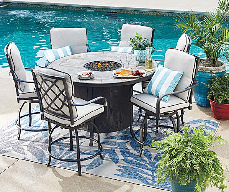 Gather For A Relaxing Day Or Evening Dinner Outdoors Using The Stunning Grandview Patio Dining Furniture Collection From Wilson Fisher