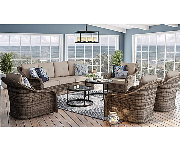 Wilson & Fisher Lakewood Large Space Covered Patio Sofa ...