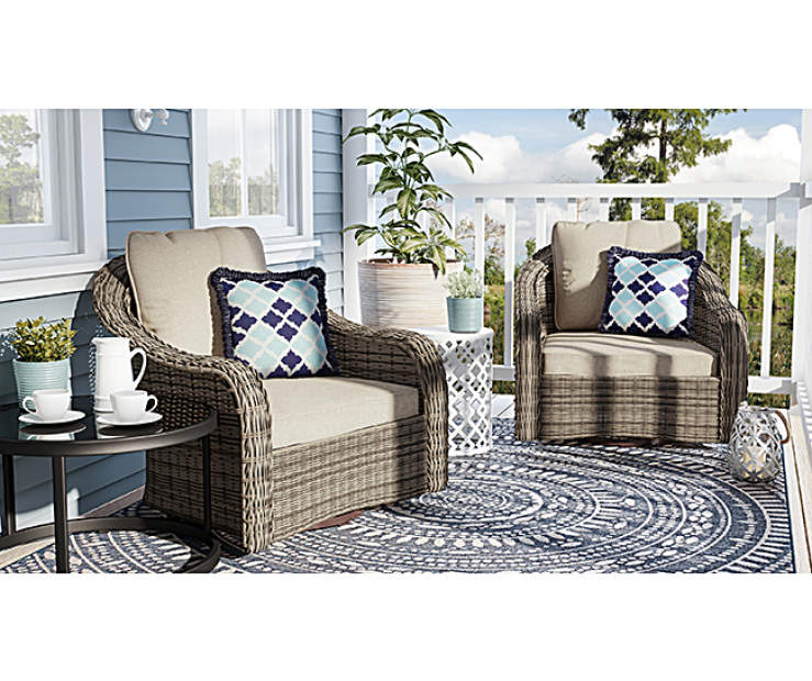 Wilson Fisher Lakewood Small Space Patio Gliders Set Big Lots