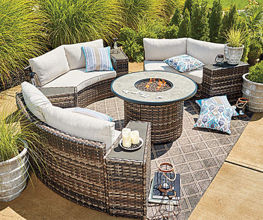 Wilson Fisher Manhattan 8 Piece Cushioned Patio Furniture Set