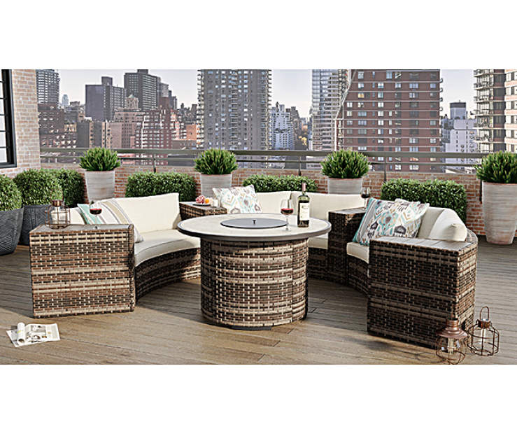 Wilson & Fisher Manhattan Large Space Patio Seating & Fire ...
