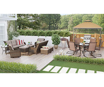 Wilson Amp Fisher Oakmont All Weather Wicker Cushioned Sofa