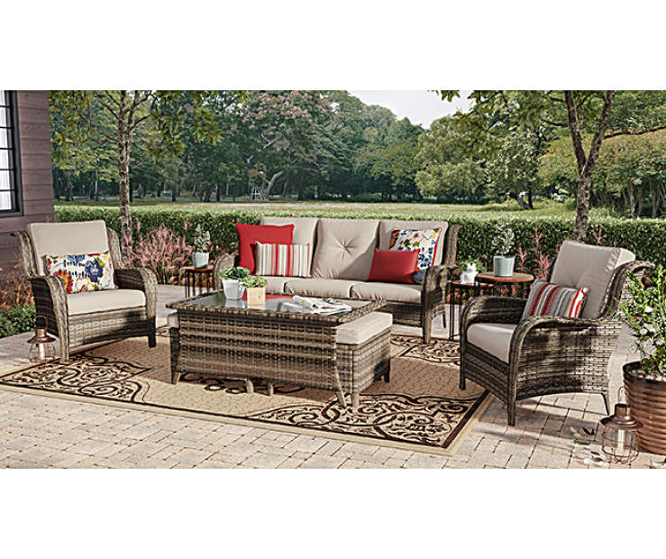 Wilson & Fisher Oakmont Large Space Patio Seating Sofa, Chairs ...