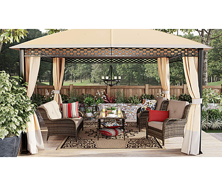Create Your Own Backyard Oasis With Pieces From The Wilson Fisher Oakmont Patio Furniture Collection An All Weather Wicker Loveseat And Pack Of Chairs