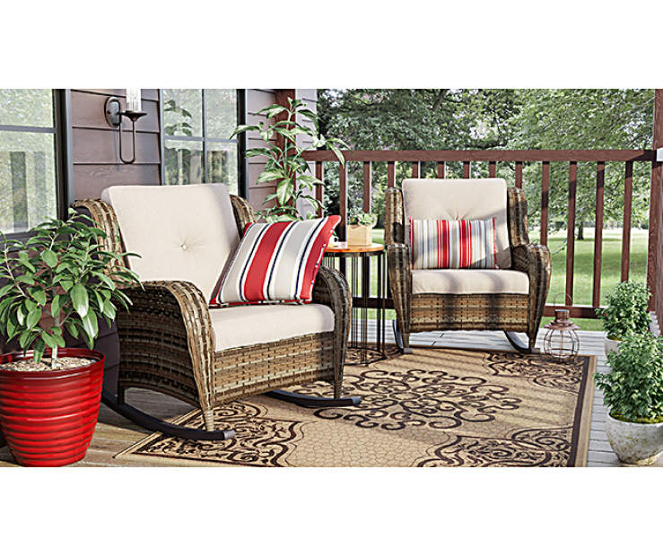 Wilson Amp Fisher Oakmont Small Space Patio Rocker Chairs