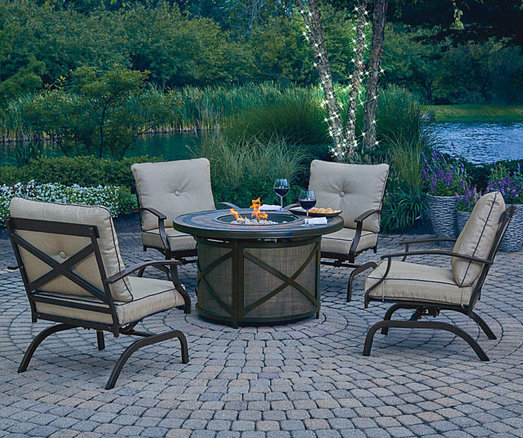 Relax Unwind And Enjoy The Beautiful Outdoors While Seated Around This Lovely Santa Fe Outdoor Patio Set A Versatile Must Have For Your Living