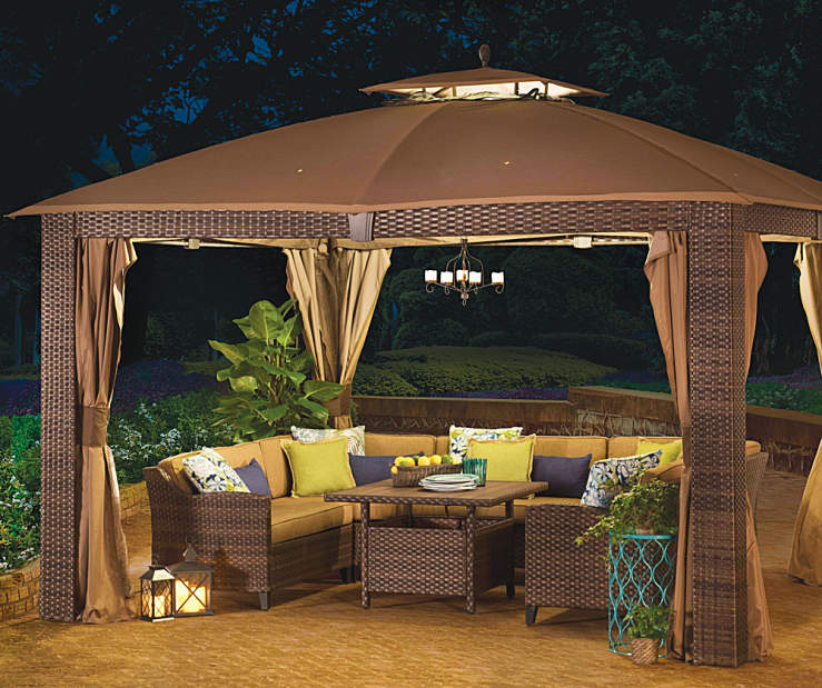 Wilson Amp Fisher Sonoma Gazebo And Modular Patio Seating