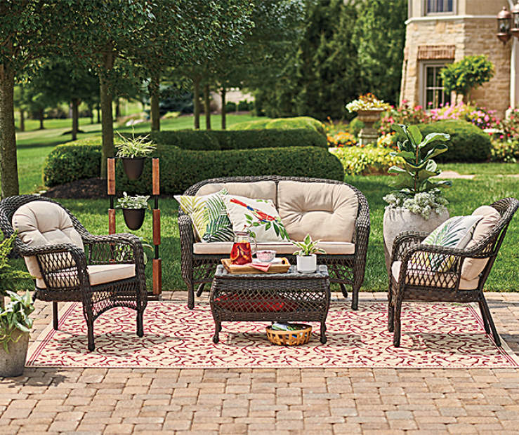 Wilson Fisher Westwood 4 Piece Cushioned Patio Furniture