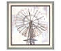 Windmill Double Frame Wall Art 25 inches by 25 inches Silo