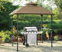 Windsor Grill Gazebo Replacement Canopy 5 Feet by 8 Feet Outdoor Setting with Grill Lifestyle Image