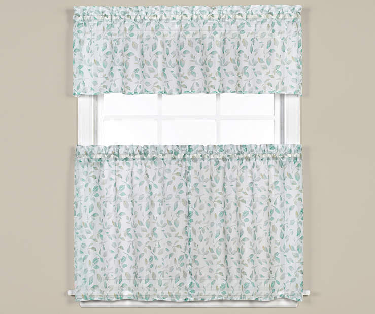 Windswept 3 Piece Tier and Valance Set On Window Room Environment Lifestyle Image