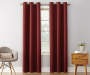 Wine Montego Grommet Curtain Panel 84 Inches On Window Room Environment Lifestyle Image