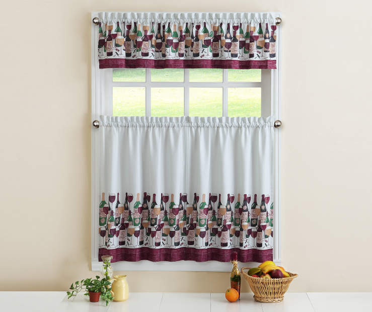 Wine Tasting Tier Curtain Set Room View