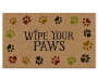 Wipe Your Paws Coir Outdoor Doormat 18 Inches by 30 Inches Overhead View Silo Image