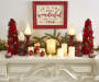 Wonderful Time of the Year Red and White Wooden Tray Wall Decor lifestyle