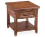 Woodboro Brown End Table silo top view
