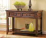 Woodboro Dark Brown Console Table lifestyle living room