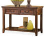 Woodboro Dark Brown Console Table silo front