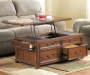 Woodboro Dark Brown Lift Top Coffee Table lifestyle living room